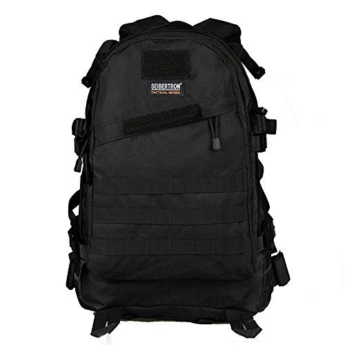 Seibertron Roving Motorcycle Backpack with Raincover (black)