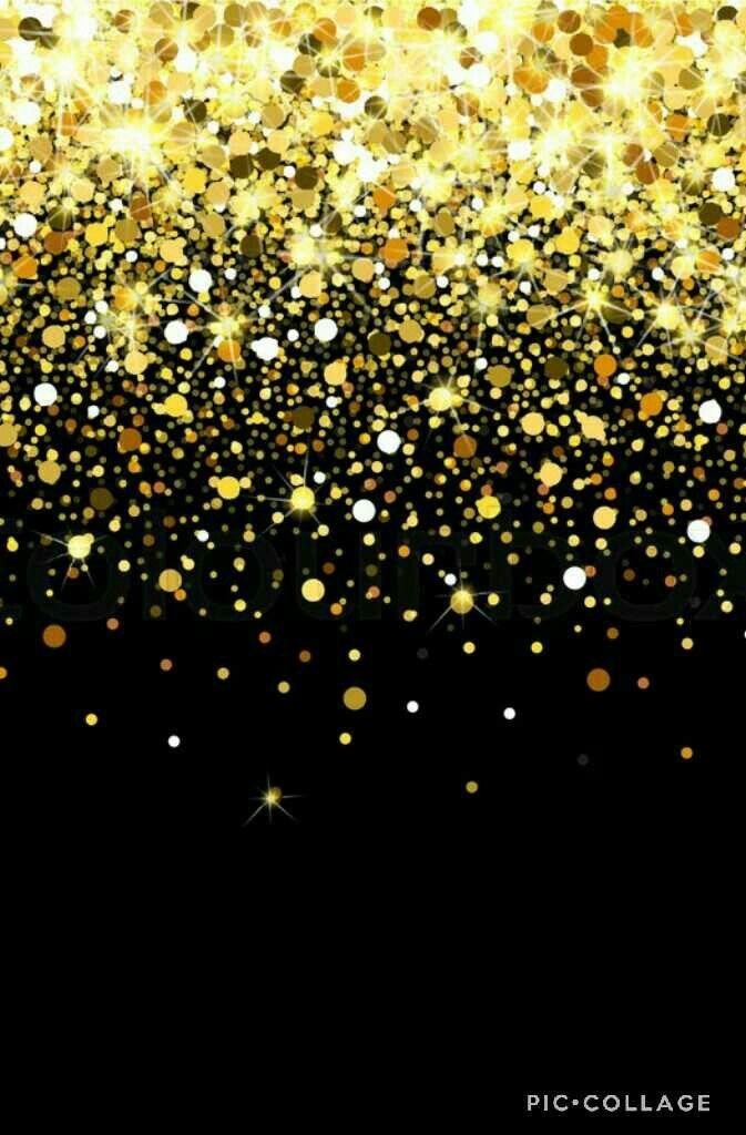 black and gold confetti wallpaper