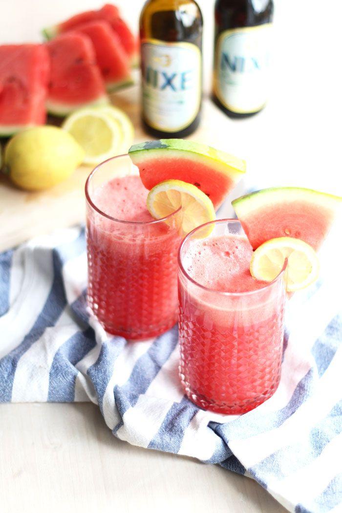 Ein Drink für laue Sommerabende am Balkon: Erfrischender Wassermelonen Radler