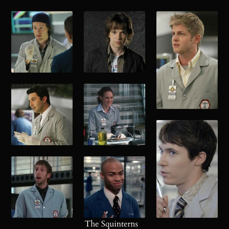 The Squinterns ... Zach was a sweet baby and he brought me nothing but sadness. Vincent and Wendell are my fave new interns