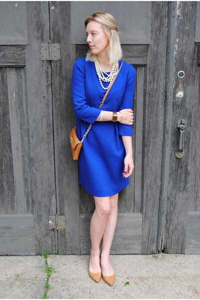 royal blue dress could also wear as a top add gold jeans!
