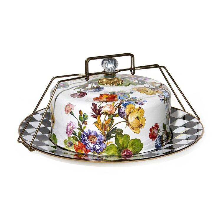Buy mackenziechilds flower market enamel cake carrier