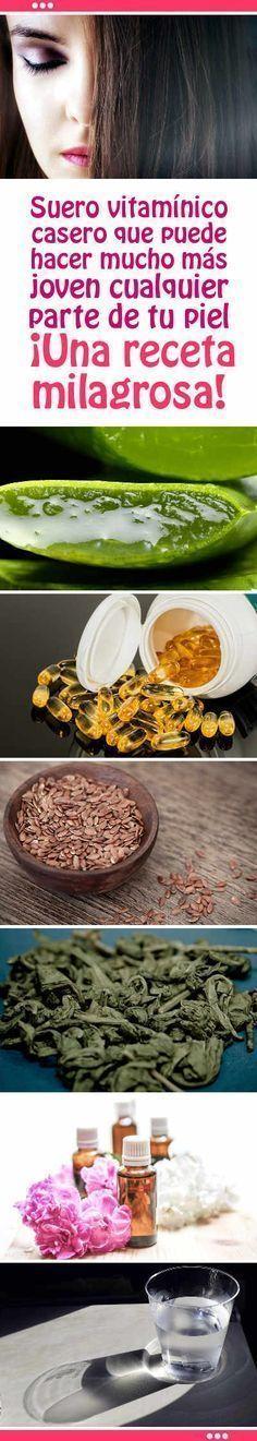 Suero vitamínico casero que puede hacer mucho más joven cualquier parte de tu piel. ¡Una receta milagrosa!