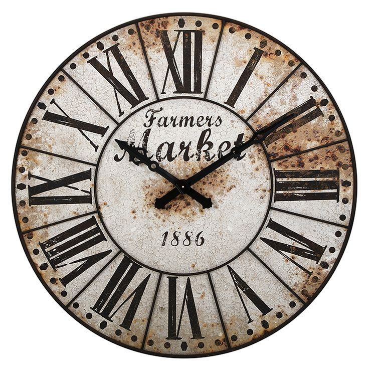 Farmers Market Oversized Wall Clock. Best 20  Farmhouse clocks ideas on Pinterest   Landing decor