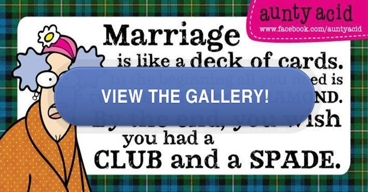Aunty Acid Marriage Advice