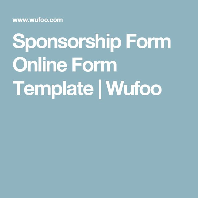Sponsorship Form Online Form Template  Wufoo  Fundraising