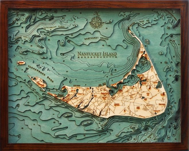 cartographers made multi-level models of ocean typography by cutting wood profiles, added color for effect, and produced artwork that would impress the saltiest of sea captains and cruelest critics alike