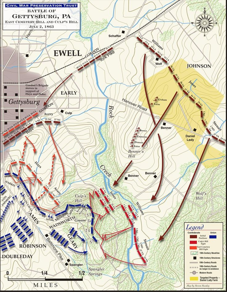 Best GETTYSBURG BATTLE OF Images On Pinterest Civil Wars - Battle of gettysburg us map
