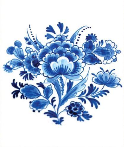 Floral Dutch 'Delfts Blauw'
