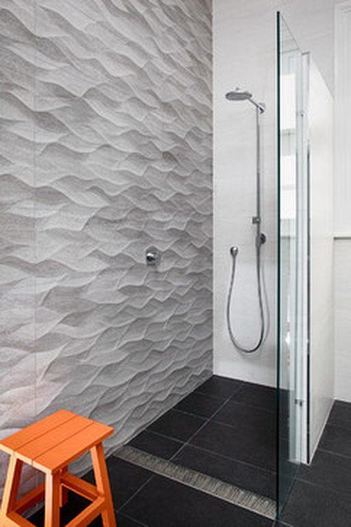 32 Beautiful Master Bathroom 3d Tile Designs For Inspiration Bathroom Feature Wall Modern Shower Design Modern Shower