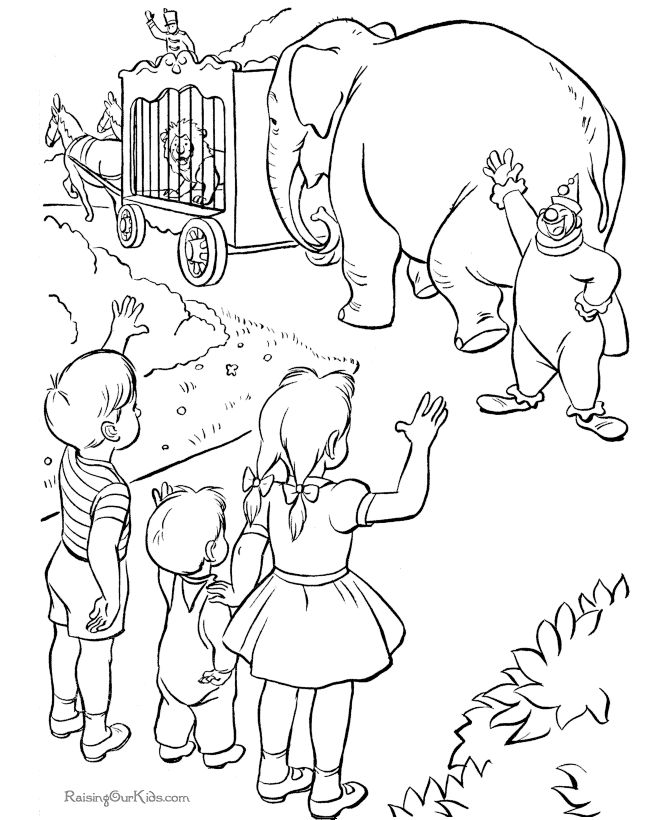 52 best Circus Coloring Pages images