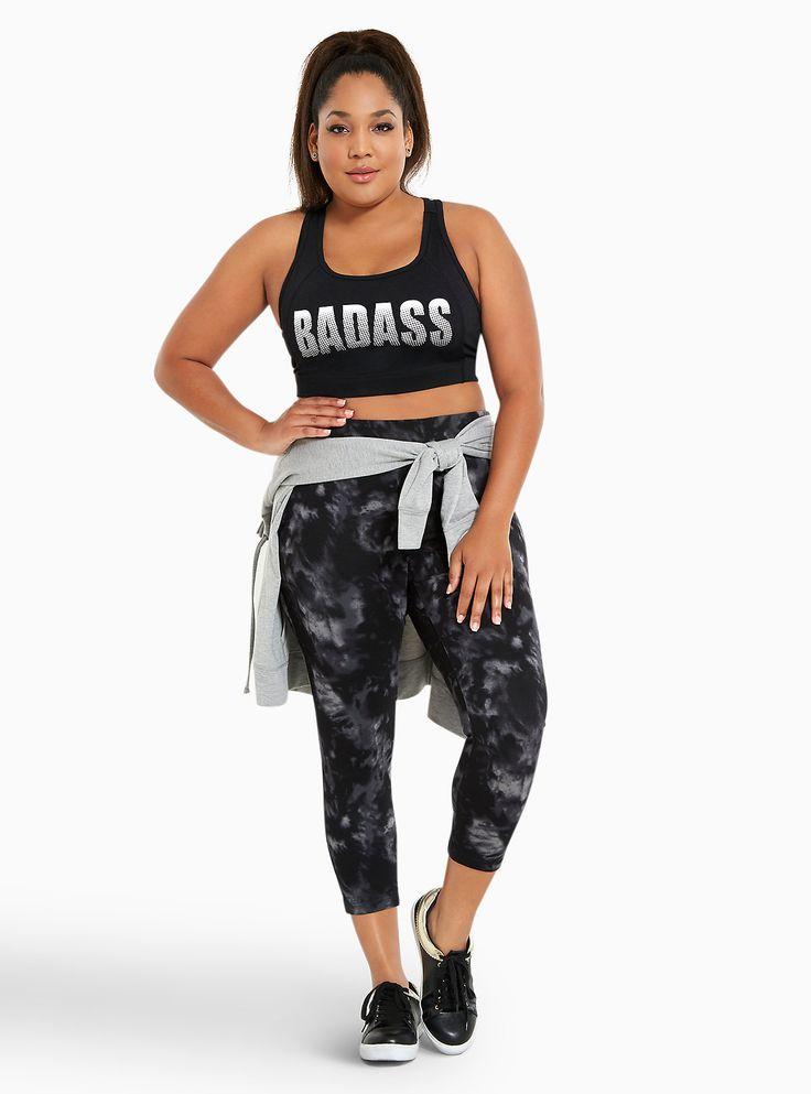 Plus Size Torrid Active - Badass Sports Bra, DEEP BLACK