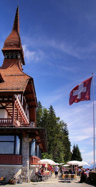 Harder Kulm Cafe, Interlaken, Switzerland - We enjoyed a fabulous lunch here with lovely views.