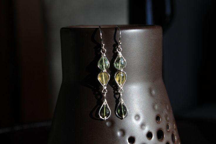 Tourmaline earrings by designbyeSKay on Etsy