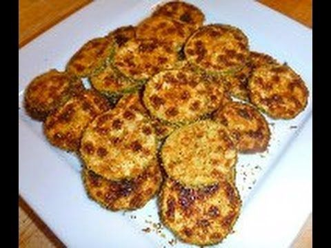 how to make baked zucchini chips - YouTube