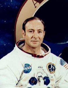"""Edgar Mitchell was the Lunar Module Pilot for Apollo 14  'I happen to have been privileged enough to be in on the fact that we've been visited on this planet and the UFO phenomena is real,' Dr Mitchell said.    Chillingly, he claimed our technology is 'not nearly as sophisticated' as theirs and """"had they been hostile"""", he warned 'we would be been gone by now'."""