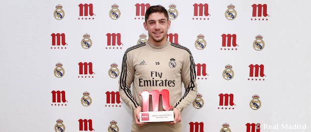 Valverde Decembers Mahou Five Star Player Real Madrid Cf In 2020 Real Madrid Star Player Madrid