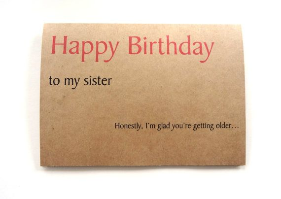 Easy Birthday Cards For Sister ~ Funny birthday card for sister by spellingbeecards on etsy gift pinterest