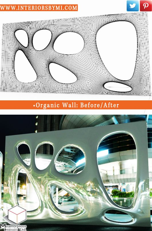 Organic Wall  #BeforeandAfter #Design #Vision #interiorDesign  www.InteriorsBYMI.com