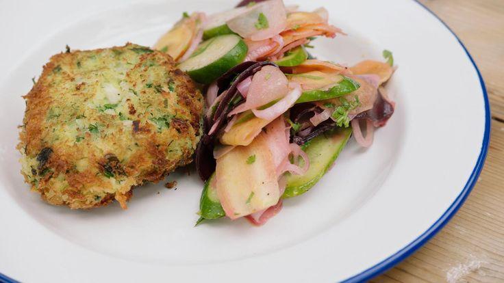 Fishcake met wortelsalade   Dagelijkse kost