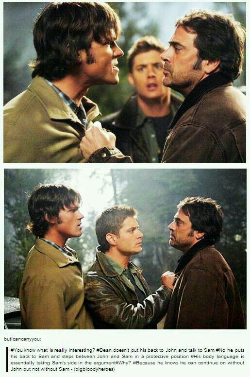 No it's actually because John was abusive and Dean is trying to keep Sam safe (still). It's instinctual.