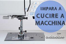 Impara a cucire a macchina con questo corso di cucito gratuito per principianti! Si imparano tecniche con la macchina da cucire con un progetto utile!
