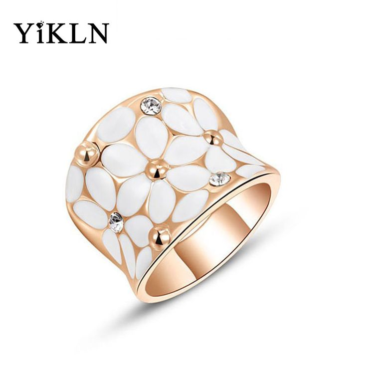 YiKLN Christmas Gift Gold Color Finger Ring Classic Genuine Austrian Crystal Fashion Flower Rings Jewelry For Women L2010422325-in Rings from Jewelry & Accessories on Aliexpress.com   Alibaba Group
