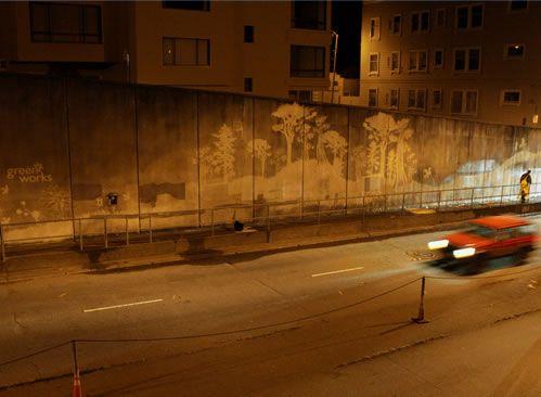 """Green Works"" Broadway tunnel, San Francisco"