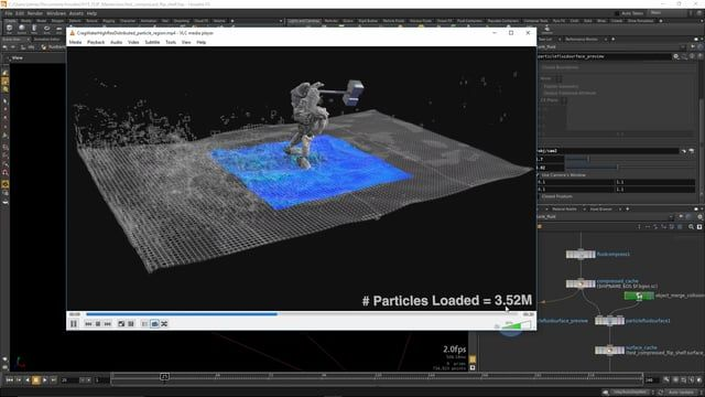 In recent releases, advances in Houdini's FLIP solver and distribution capabilities have enabled very large scale liquid simulations.  However, the data sets produced by such large simulations can be unwieldy to save to disk and produce renderable surface meshes and secondary elements.  This Houdini 15 Masterclass describes production-oriented additions to the Houdini FLIP toolset that provide compression of large FLIP simulations for optimized post-simulation workflows, including surfacing…