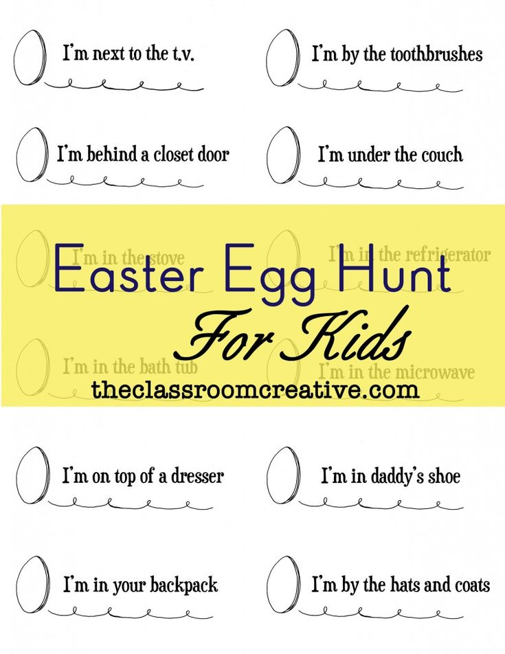 Best 25 easter egg hunt clues ideas on pinterest easter free printable easter egg scavenger hunt clues toss a little literacy into those easter egg negle Choice Image
