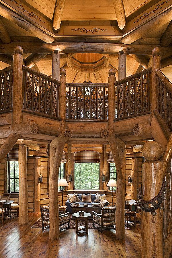 structural log masterpiece lodge cabin 2 pinterest. Black Bedroom Furniture Sets. Home Design Ideas