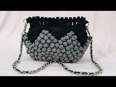 Full Making Tutorial Of Macrame Bag With Bubble Pattern - YouTube