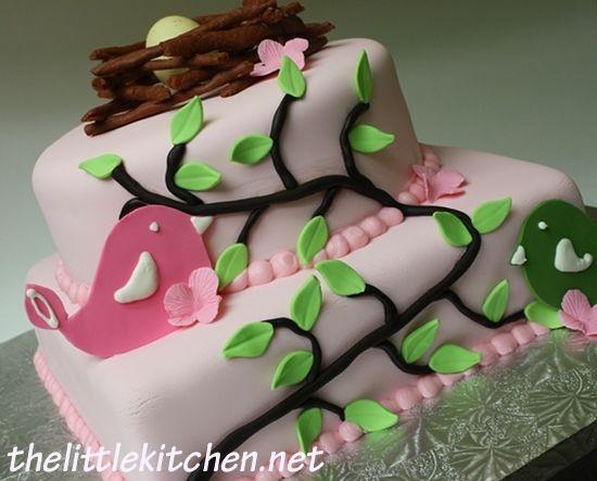 Baby Girl Bird Cake