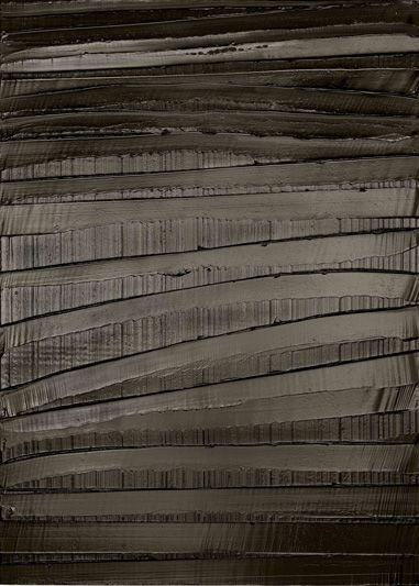 Pierre soulages - Peinture 222 x 157 cm 30 decembre 2009