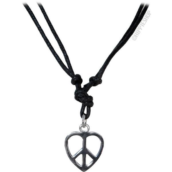 Peaceful Heart Necklace on Sale for $5.95 at HippieShop.com (19 BRL) ❤ liked on Polyvore featuring jewelry, necklaces, heart necklaces, heart shaped necklace, heart jewelry, heart-shaped jewelry and heart jewellery