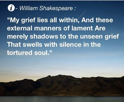 Shadows of the tortured soul... The ones who have loved and lost know these words intimately.