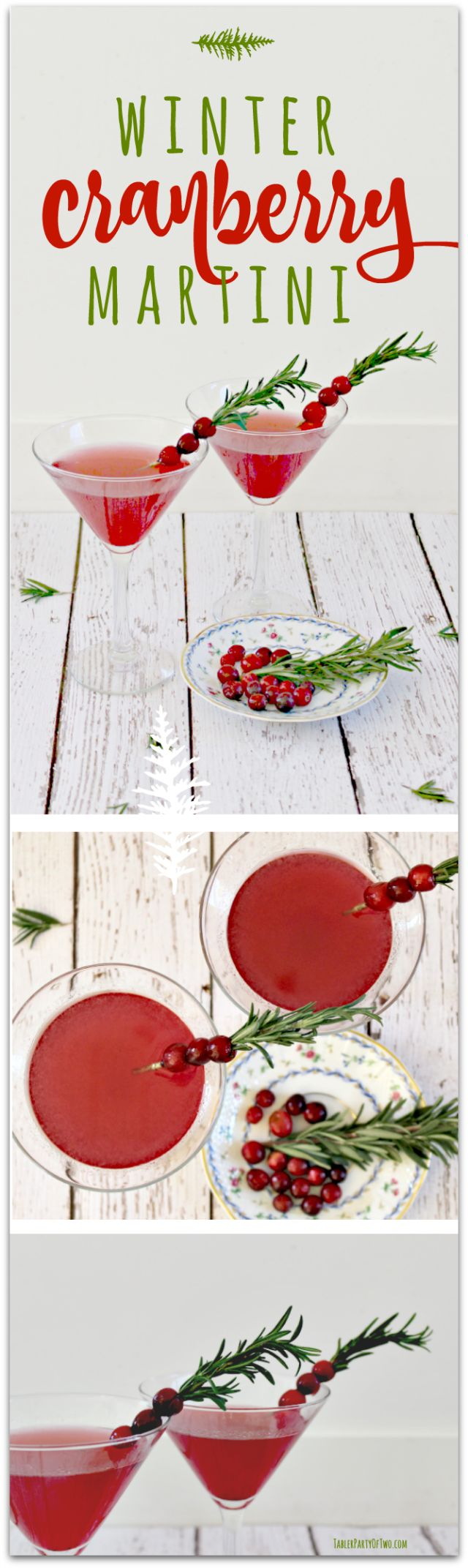 The Winter Cranberry Martini is as beautiful as it is delish! It's perfect for your Thanksgiving gathering or any holiday soiree!