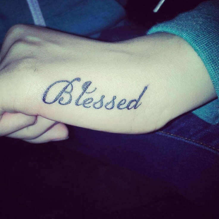 Love My #blessed #tattoo