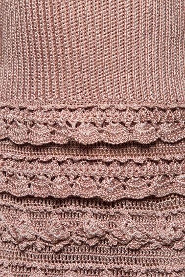 Pearl Couture Crochet Dress - Vanessa Montoro USA - vanessamontorolojausa