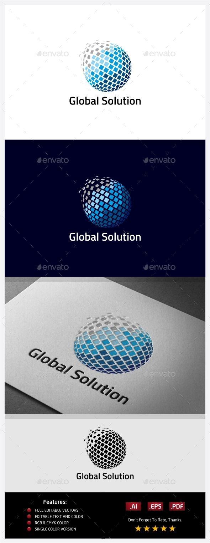 Global Solution Logo — Vector EPS #digital #globe • Available here → https://graphicriver.net/item/global-solution-logo/10406525?ref=pxcr