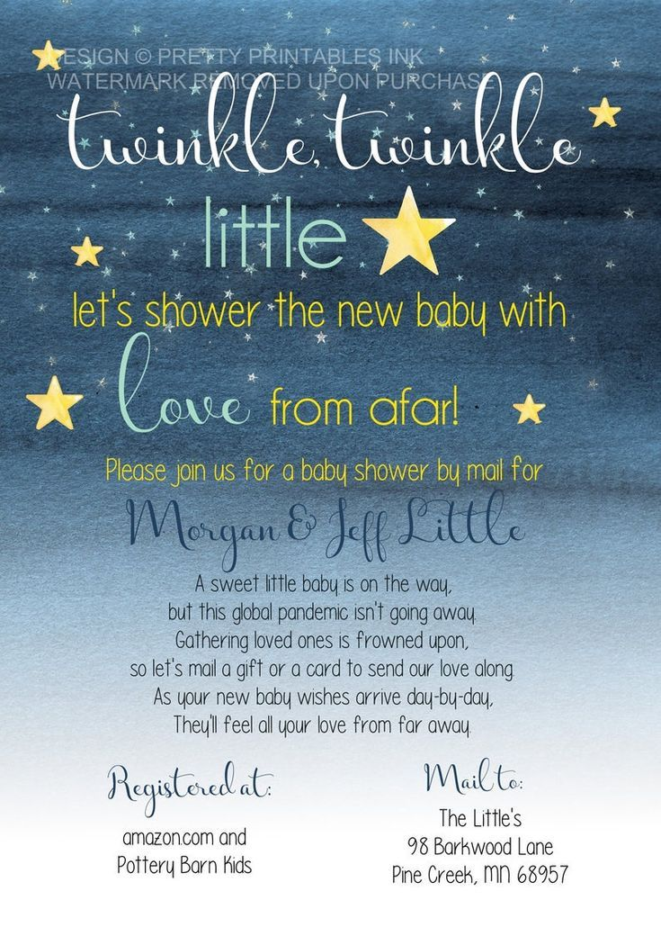 Girl Baby Shower By Mail Invitation Printable Long Distance Baby Shower Invitation Shower from Afar Girl Baby Shower Invite
