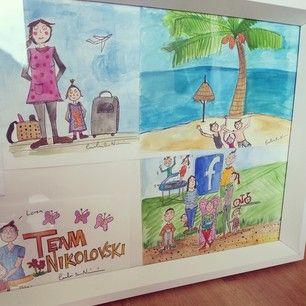 Framed ccillustration colorful illustrations  Cecilia Book Nikolovski » Team Nikolovski´s Blog