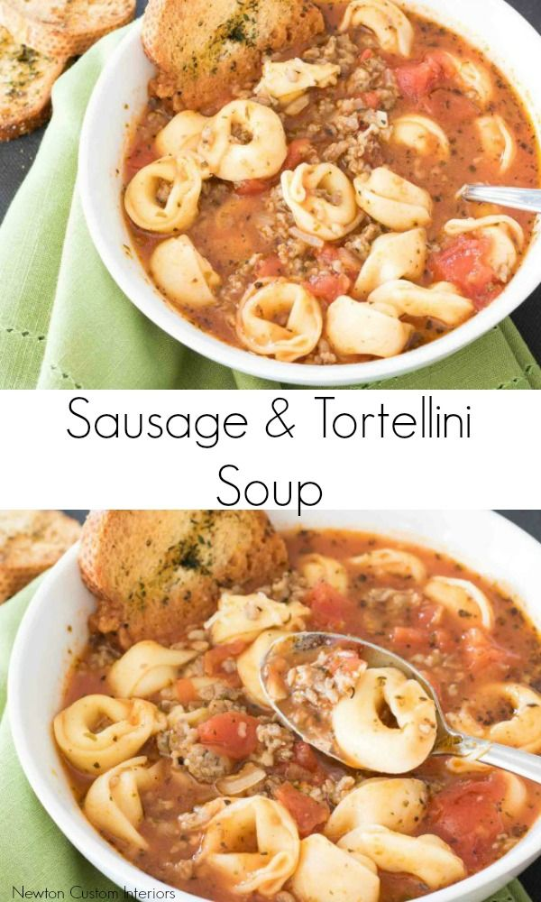 There's nothing I love better on a cold winter's day than a hot bowl of soup! Today, I'm sharing what has become a favorite soup in our house – Sausage & Tortellini Soup. My sister gave me this recipe a few months ago. She got it from a friend, who found it on the blog …