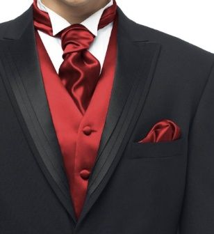 Groomsmen in crimson... Wedding ideas for brides, grooms, parents & planners ...  … plus how to organise an entire wedding, without overspending ♥ The Gold Wedding Planner iPhone App ♥
