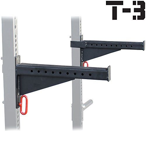 These HD Spotter Arms easily attach to your Titan HD Power Rack or Squat Rack HD with 2x3 tubes with 1 holes at any height to match the athlete's requirem