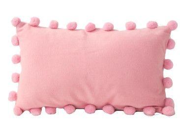 Velvet Pom Pom Cushion | Dusky Pink - The Foxes Den | In Colour
