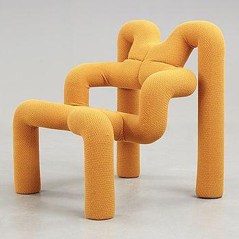 """a armchair """"Ekstrem"""" designed by Terje Ekström for Stokke fabriker. 1980s. - Bukowskis"""