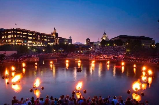 Waterfire in Providence is a wonderful sight to see!      #VisitRhodeIsland