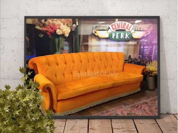 Central Perk Friends Tv Show Poster Sofa