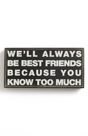 Primitives by Kathy 'Best Friends' Box Sign available at #Nordstrom
